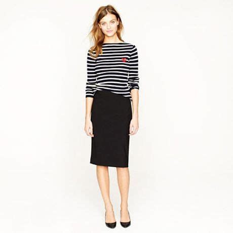 j crew pencil skirt in italian stretch wool in black lyst