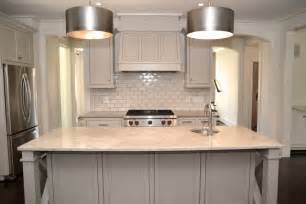 Benjamin Revere Pewter Kitchen by Of Pearl Quartzite Countertops