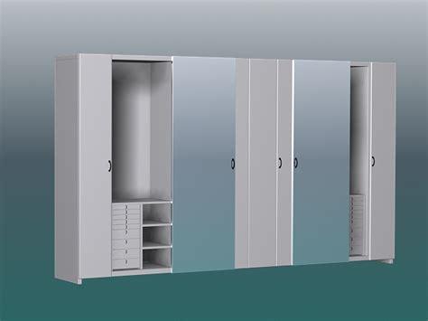 White wardrobe closet 3d model 3ds max files free download