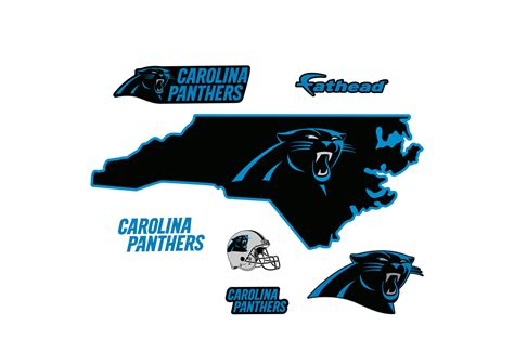 carolina panthers state of carolina wall decal