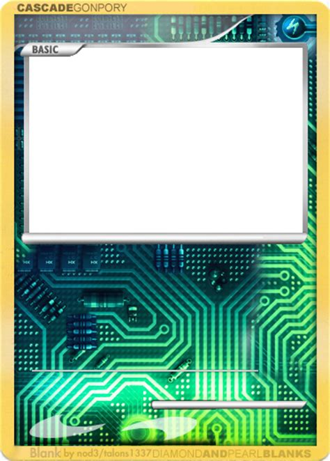 water type card template cyber blank by nod3 on deviantart