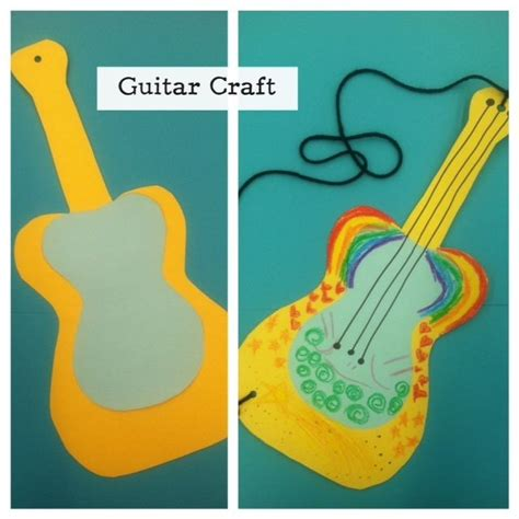 Paper Guitar Craft - storytime craft easy guitar craft just poster board