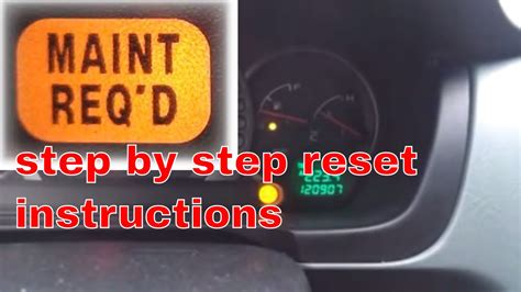 2003 honda pilot maintenance required light 2004 honda pilot maint required light reset