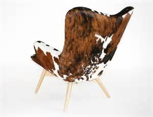 fauteuil en peau de vache quot b 244 quot by m