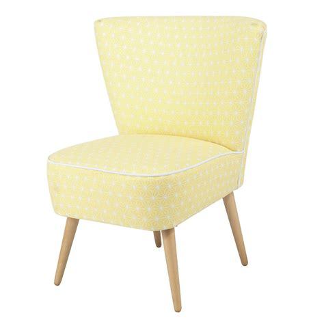 Délicieux Maisons Du Monde Fauteuil #1: fauteuil-vintage-a-motifs-en-coton-jaune-scandinave-1000-4-6-147360_9.jpg