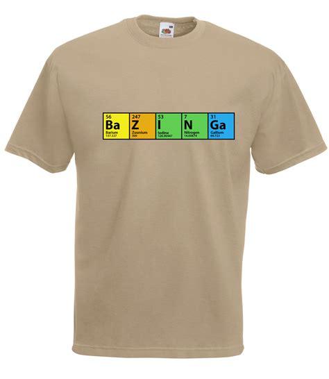 big bang theory sheldon t shirt the big bang theory inspired sheldon bazinga periodic