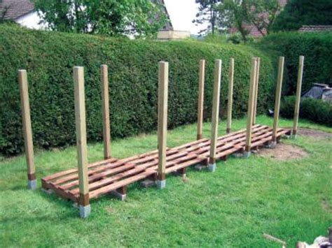 feuerholz gestell holzunterstand bauanleitung zum selber bauen