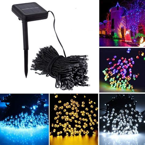 100/200 LED String Solar Light Outdoor Garden Xmas Party
