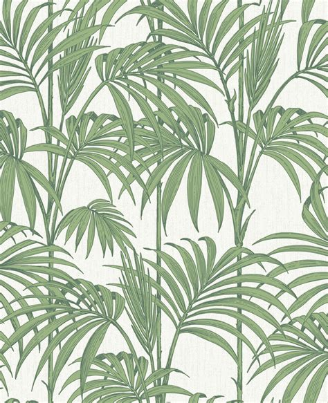 Contemporary Home Decor Fabric by Honolulu Palm Green Wallpaper Palm Amp Tropical Leaf Wallpaper
