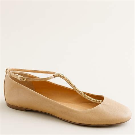 t shoes flats j crew jayne t ballet flats in beige bronzed beige