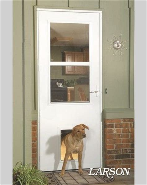Exterior Door With Built In Screen No Cutting Into Your House For The Doggie Door This Larson Door Comes With A Pet Door