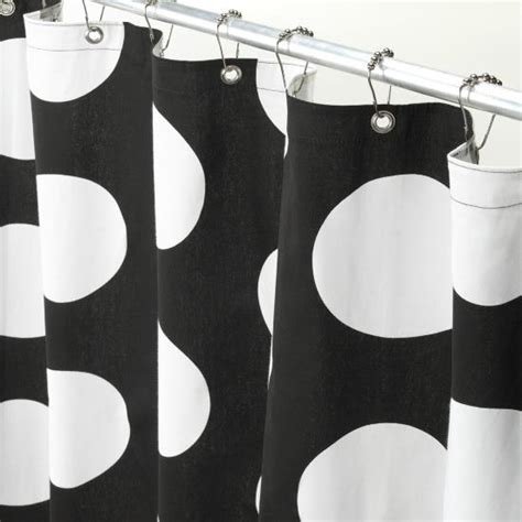black white polka dot shower curtain black and white polka dot shower curtain decor