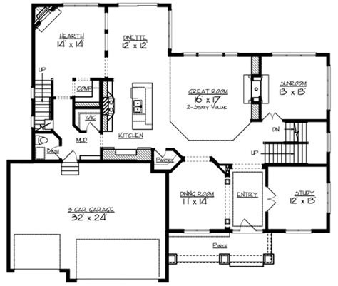 main floor plans the lee 2087 4 bedrooms and 3 baths the house designers