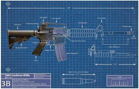 how to make a blueprint artwork by remps imagination m4 carbine blueprint