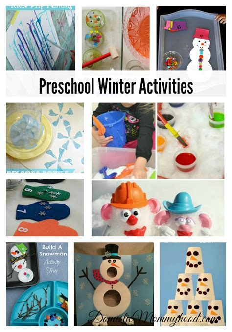 kindergarten activities winter pin winter preschool activities theme on pinterest