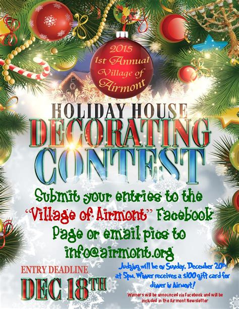 christmas decoration compitition preserve airmont ny 187 2015 decorating contest