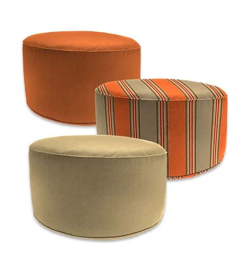 outdoor poufs and ottomans sunbrella outdoor pouf ottomans coordinate with our