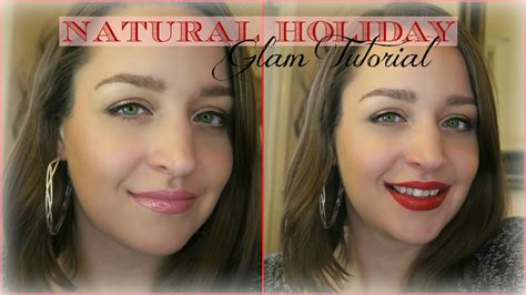 natural makeup tutorial drugstore natural holiday glamour makeup tutorial affordable
