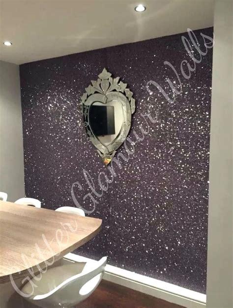 silver glitter wallpaper bedroom gunmetal feature wall