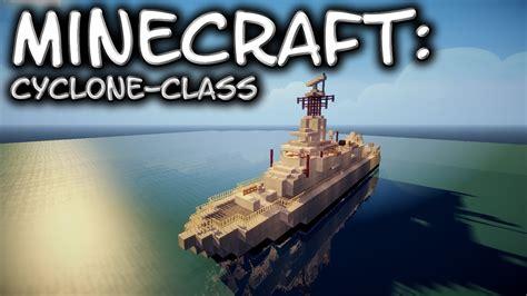 minecraft boat train minecraft cyclone class patrol vessel tutorial youtube
