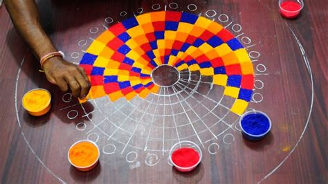 Simple Background Check Easy Rangoli Checks Design Simple Steps