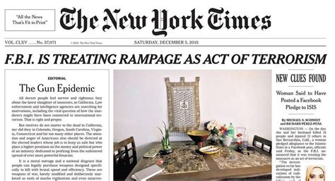 the new york times has new york times runs gun control editorial on page 1 politico
