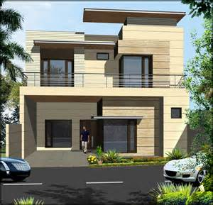 Independent Kitchen Designer Double Storey Elevation Design With Large Windows And
