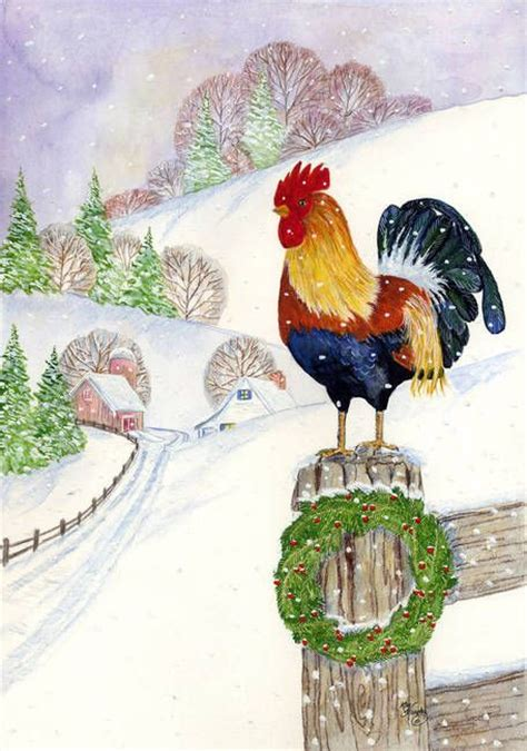 images of christmas roosters quot christmas rooster quot by kay murphy pinterest rooster