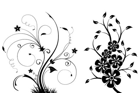 swirl pattern illustrator free floral swirls vector illustrator 123freevectors