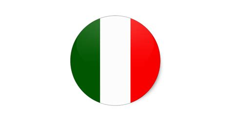 Baby Shower Gifts by Italy Quality Flag Circle Classic Round Sticker Zazzle Com