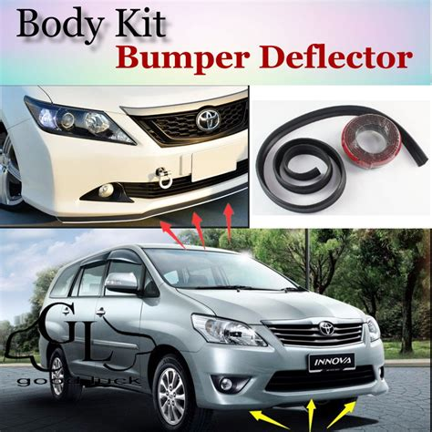 All New Innova List Bumper Depan Bawah Front Lower Bumper Trim Chrome for toyota innova 2004 2015 front bumper lip spoiler for car lip fans to cars tuning topgear