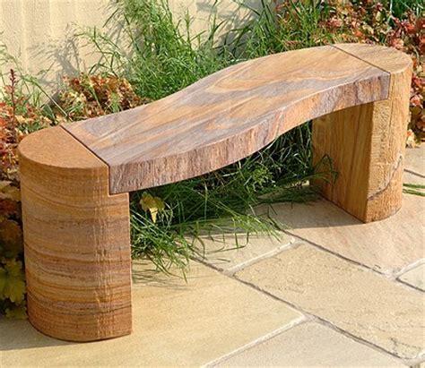 sandstone garden bench sandstone garden bench curved bench in rainbow sandstone