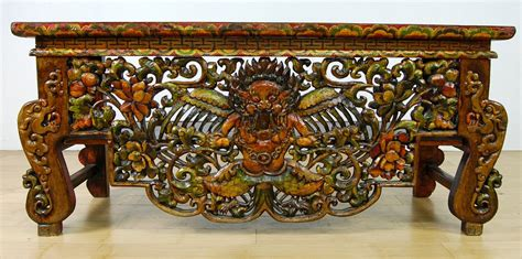 tibetan altar table leg tiger top stand buddhist ebay