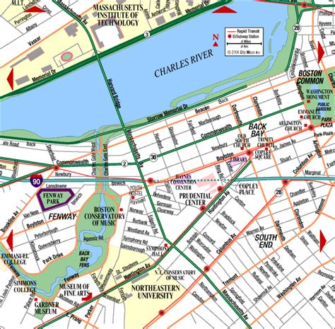 map of boston ma road map of boston back bay fenway boston massachusetts aaccessmaps