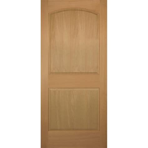 Stain Grade Interior Doors Builder S Choice 36 In X 80 In 2 Panel Arch Top Stain Grade Wood Fir Interior Door Slab