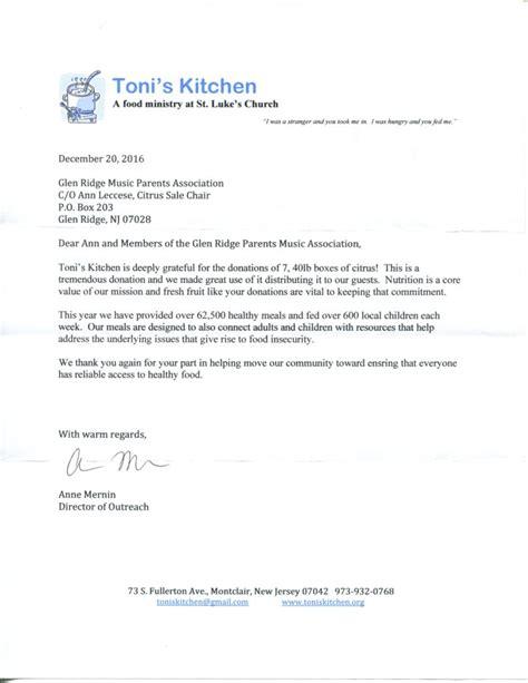 thank you letter to band parents grmpa org glen ridge parents association