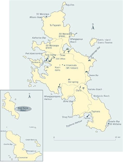 barrier islands map get involved new zealand department of conservation te