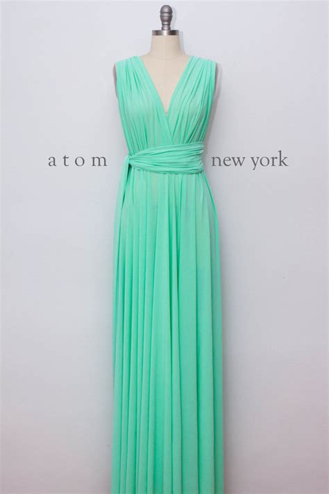 mint green infinity dress set of 5 bridesmaid dress mint green infinity dress mint