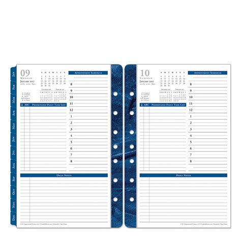 franklin planner template monticello ring bound one page per day planner franklincovey