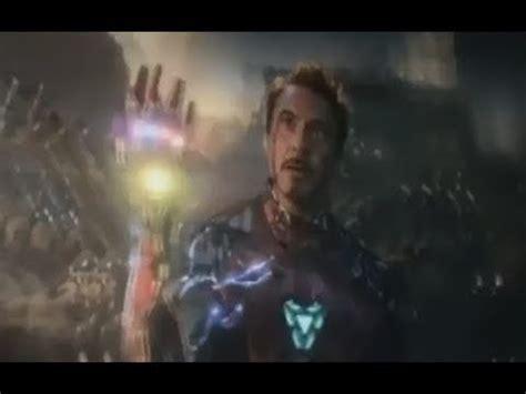 avengers endgame iron man death youtube