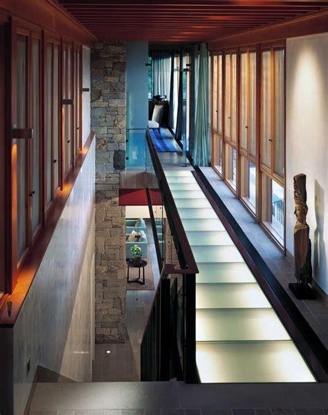 beautiful stone  wood house  indoor swimming pool