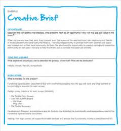 Advertising Briefformat Sle Creative Brief Template 9 Free Documents In Pdf Word