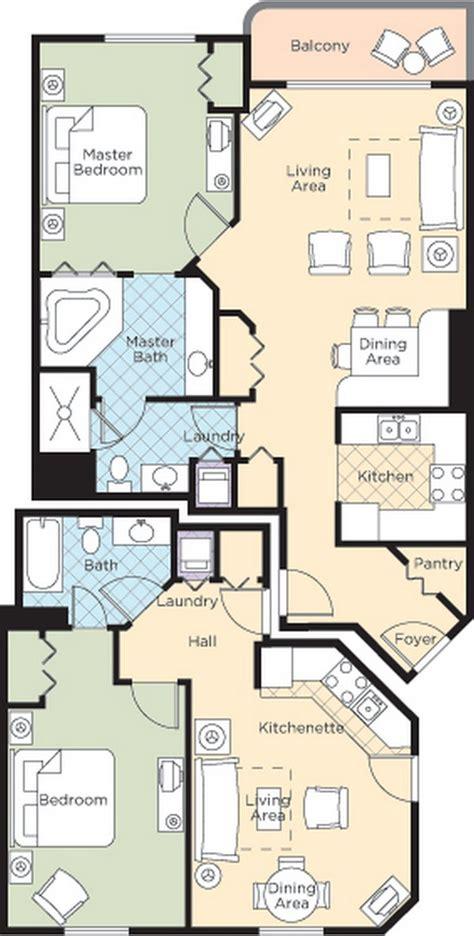 daytona suites 2 bedroom walk resort floorplans