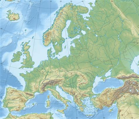 physical map europe relief map of europe mountain ranges mir 243 s