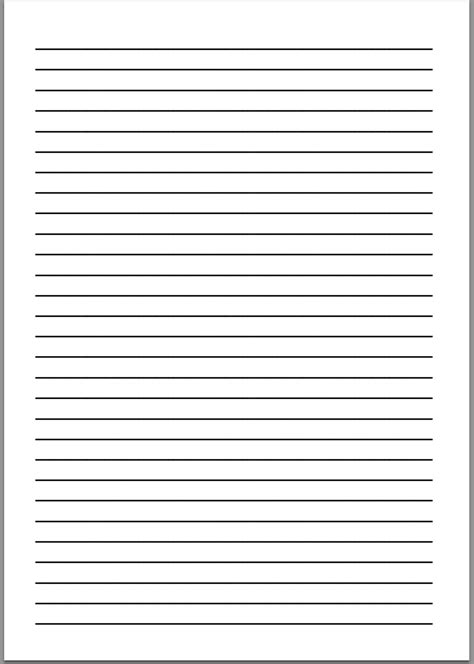 free printable vertical handwriting paper 9 best images of staar lined writing paper printable