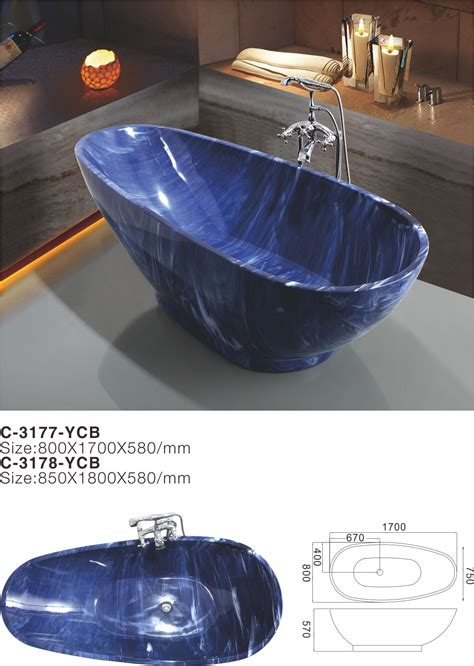 wholesale bathtubs suppliers china 2017 luxury blue cloudy irregular acrylic free