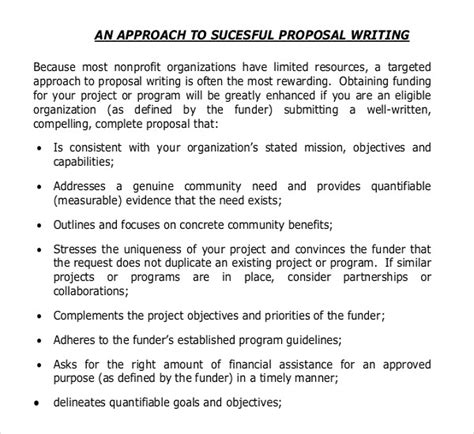 Grant Template For Non Profit How To Write Grants For Nonprofit Organizationswritings