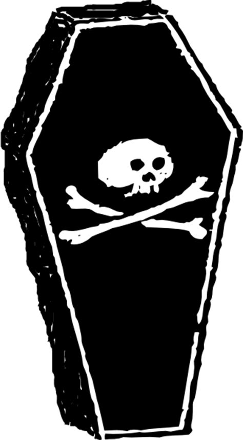 skull coffin  clip art  clkercom vector clip art