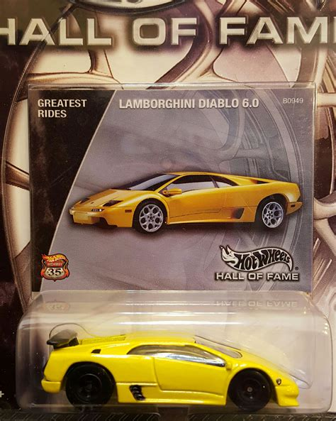 Wheels Lamborghini Diablo 1997 Hotwheels of fame car die cast and wheels