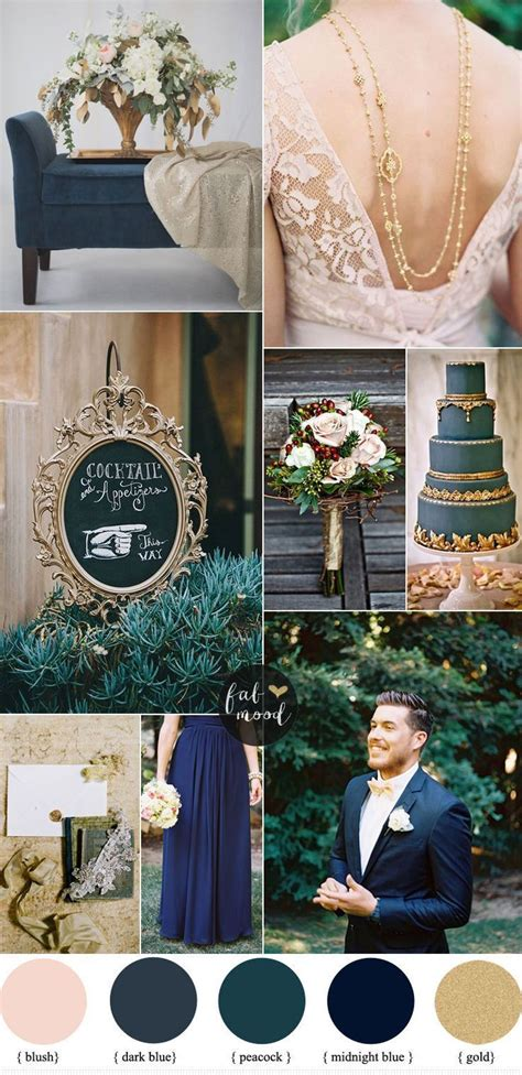 wedding colour themes silver dark blue and gold wedding theme unique wedding themes